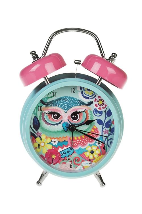 Часы настольные ФешенИнтерьер<br>12*17см, металл, с будильником, с подсветкой<br>