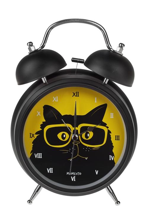 Часы настольные КотанэИнтерьер<br>15*20см, металл, с будильником, с подсветкой<br>