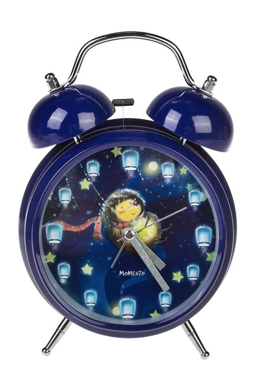 Часы настольные Волшебный ежикПодарки ко дню рождения<br>15*20см, металл, с будильником, с подсветкой<br>