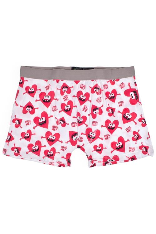 Трусы мужские В сердечкоПрикольные и Удивительные подарки<br>Размер S, 95% хлопок, 5% эластан<br>