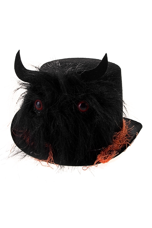 Шляпа маскарадная для взрослых ФилинПодарки на Хэллоуин<br>Текстиль, пластм., искусств. мех, черно-коричн.<br>