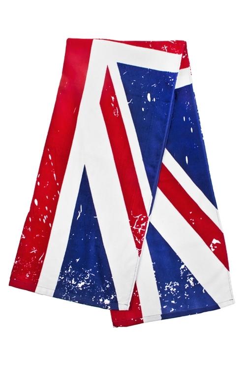 Полотенце пляжное Британский флагПляжные коврики<br>70*160см, 100% хлопок<br>