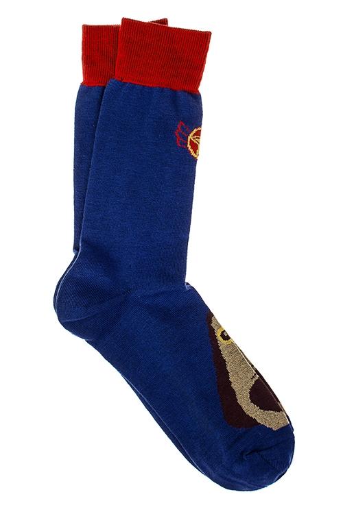 Носки мужские Супер-песПодарки<br>Размер 27 (42-46), 80% хлопок, 17% полиамид, 3% эластан<br>