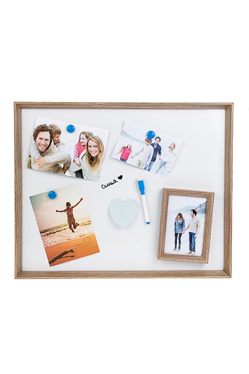 Доска-мемо Ты и яМемо-листики и доски<br>52*42см, с рамкой для фото, фото 10*15см, МДФ, с маркером и магнитами<br>