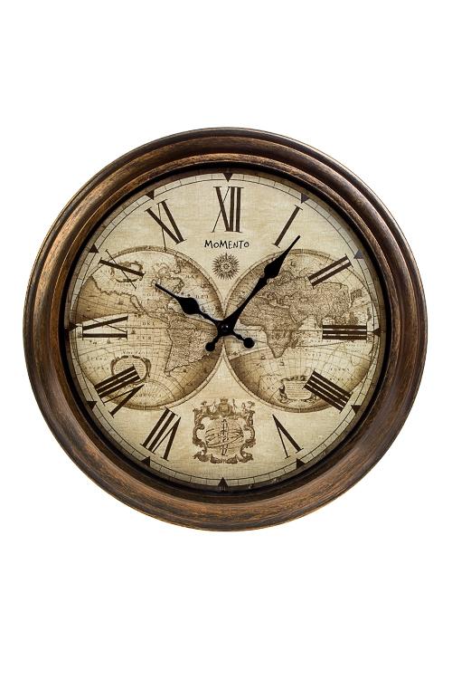 Часы настенные КартаИнтерьер<br>Д=40см, пластм., стекло<br>