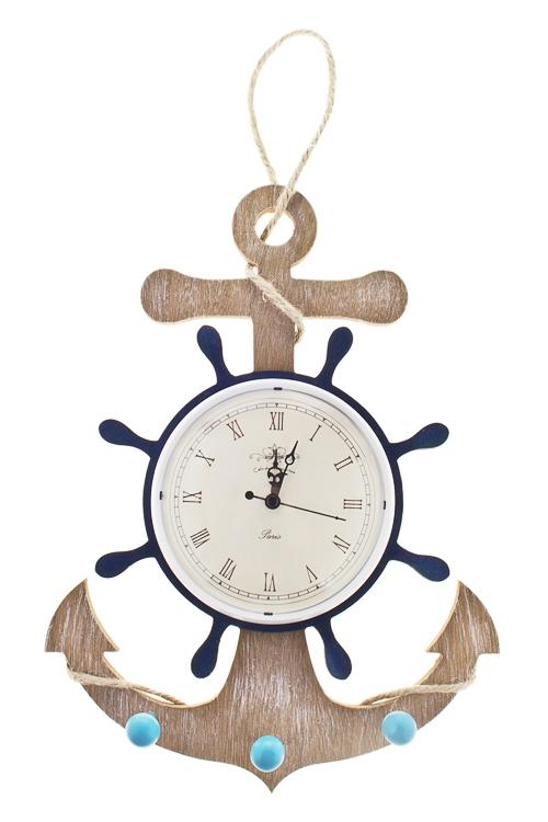 Часы настенные Морские глубиныИнтерьер<br>25*5*33см, МДФ, с крючками<br>