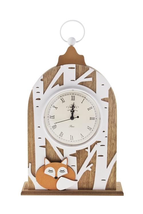 Часы настольные Сказочный лесИнтерьер<br>22.5*8*38см, МДФ<br>