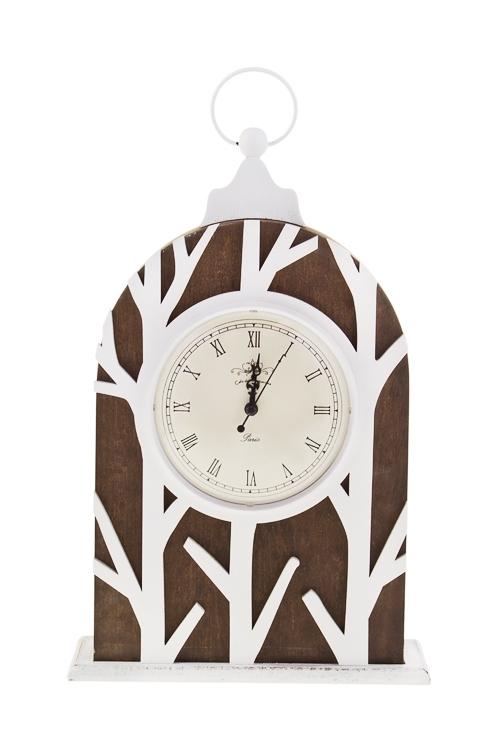 Часы настольные ЛесПодарки ко дню рождения<br>22.5*8*38см, МДФ<br>