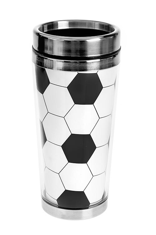 Термокружка с крышкой МячТермокружки и стаканы для чая/кофе<br>450мл, нерж.сталь, пласт. (с двойными стенками)<br>