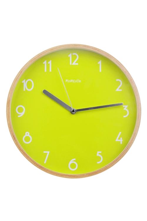 Часы настенные НеонЧасы Настенные<br>Д=30.5см, дерево, пластм., салат.<br>