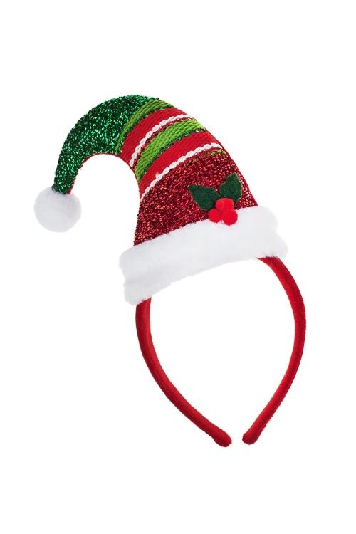 Обруч на голову для взрослых Полосатый колпачокМаскарадные костюмы<br>Пластм., текстиль<br>