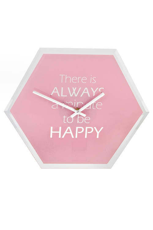 Часы настенные Время для счастьяПодарки ко дню рождения<br>34.5*30см, стекло, металл<br>