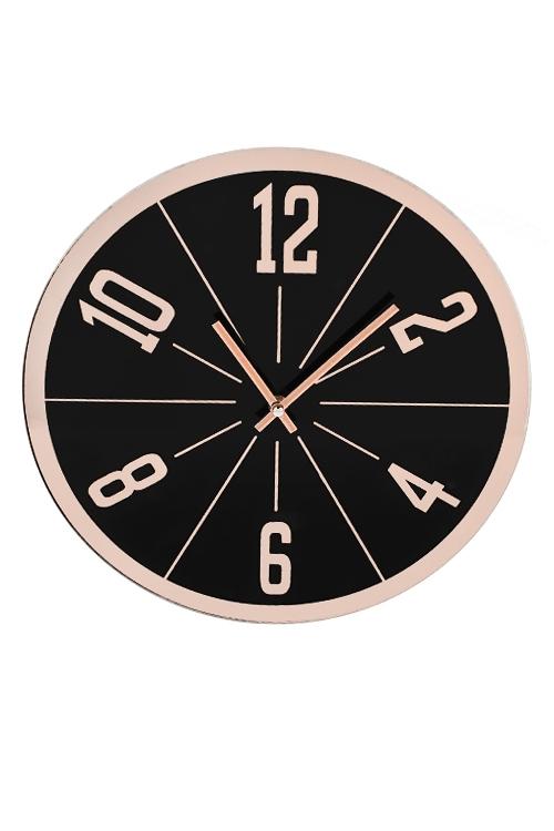 Часы настенные Потоки времениИнтерьер<br>Д=35см, стекло, пластм.<br>