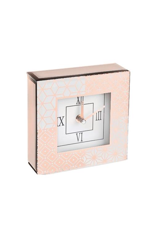 Часы настольные Калейдоскоп моментовИнтерьер<br>15*15см, стекло, картон<br>