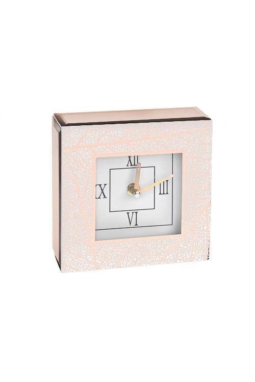 Часы настольные ЛистьяЧасы Настольные<br>15*15см, стекло, картон<br>