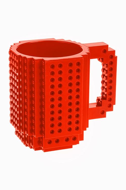 Кружка КонструкторКружки<br>350мл, пластм., красная<br>