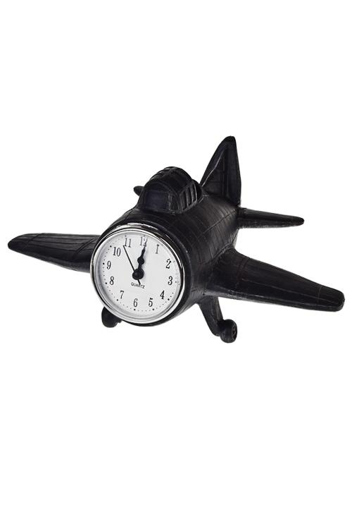 Часы настольные СамолетЧасы Настольные<br>19*24*12см, полирезин, черные<br>