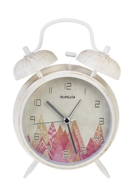Часы настольные Чарующий лесИнтерьер<br>11.3*16.5см, металл, стекло, с будильником, с подсветкой<br>