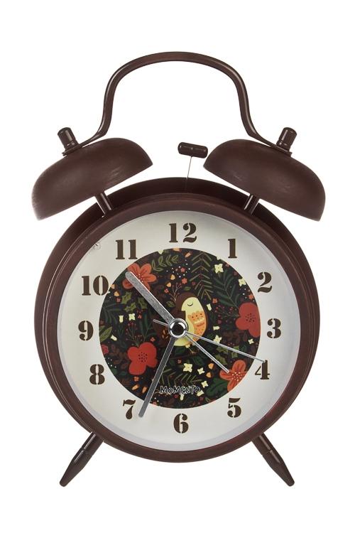 Часы настольные Волшебная птицаИнтерьер<br>11.3*16.5см, металл, стекло, с будильником, с подсветкой<br>