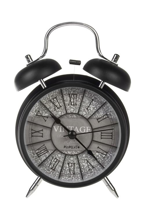 Часы настольные ВинтажПодарки ко дню рождения<br>11.3*16.5см, металл, стекло, с будильником, с подсветкой<br>