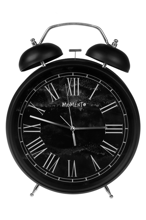 Часы настольные Власть времениИнтерьер<br>23.5*29.5см, металл, стекло, с будильником<br>