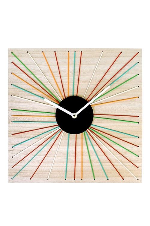 Часы настенные Цветные лучикиПодарки ко дню рождения<br>Выс=36см, МДФ<br>