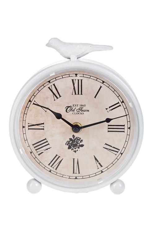 Часы настольные Маленькая птичкаЧасы Настольные<br>19*3.5*16.5см, металл, белые<br>
