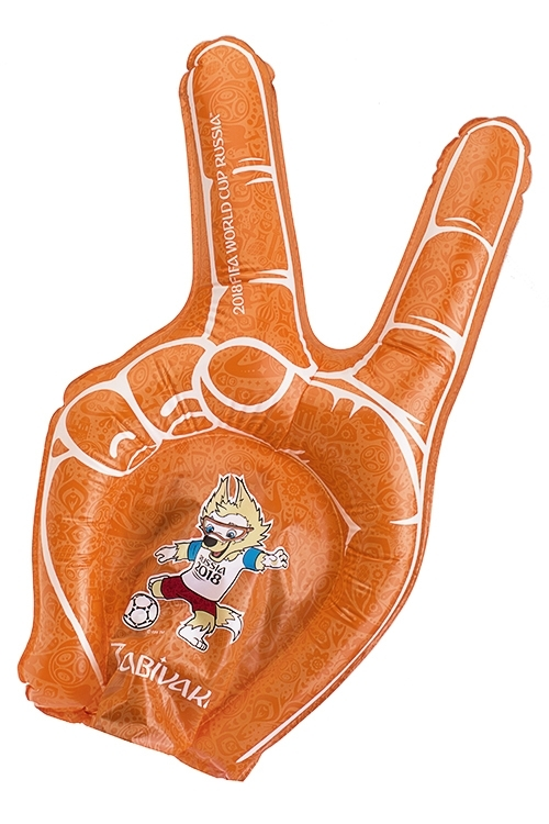 Игрушка надувная Ладонь-болельщикаРазвлечения и вечеринки<br>40*30см, полиэтилен, с соломинкой для надув.<br>