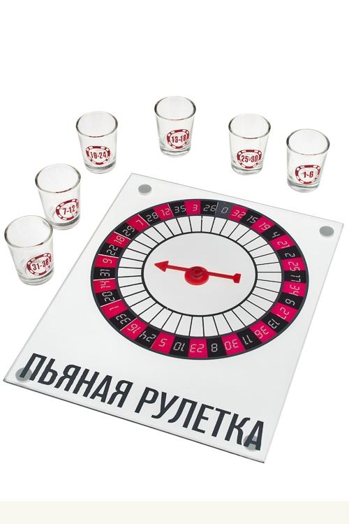 Игра настольная развлек. для взрослых Пьяная рулеткаПьяные игры<br>С рюмками, 23*27см, стекло, пластм.<br>