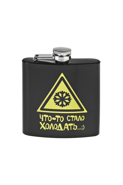 Фляжка для напитков Что-то стало холодать...Термосы и термокружки<br>180мл, 9*11см, нерж. сталь<br>