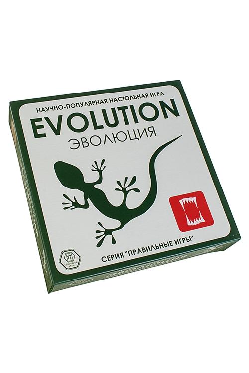 Игра настольная стратегическая ЭволюцияРазвлечения и вечеринки<br>Базовый набор, 21*21*5см, картон, пласт. (карты, фишки)<br>