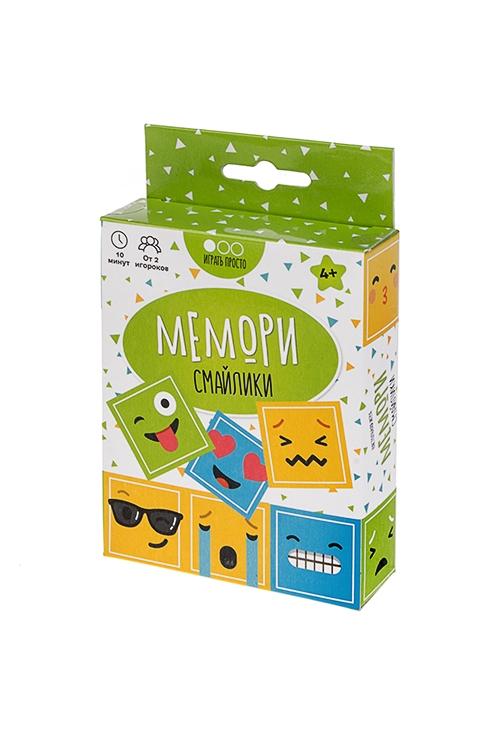 Игра настольная семейная карточная Мемори СмайликиРазвлечения и вечеринки<br>12*9*3см, картон<br>