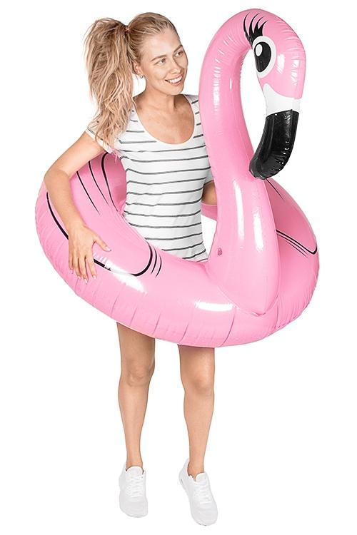 Круг надувной для купания Розовый фламинго круг для купания младенцев flipper отзывы