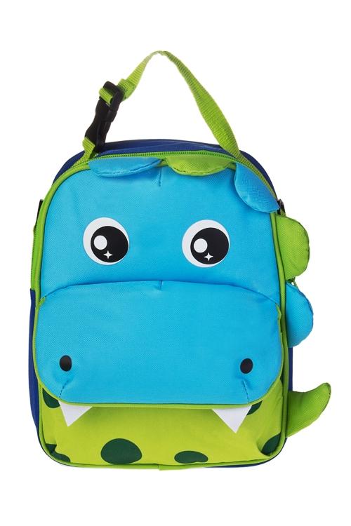 Термосумка-рюкзак ДинозаврикСумки и рюкзаки<br>21*28см, полиэстер, голубая<br>