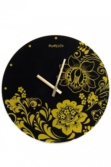 Часы настенные Цветочный орнаментИнтерьер<br>Д=35см, стекл.<br>