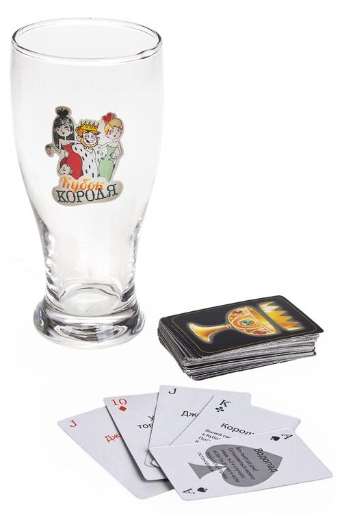 Игра настольная развлек. для взрослых Кубок короляРазвлечения и вечеринки<br>(бокал, карточки)<br>