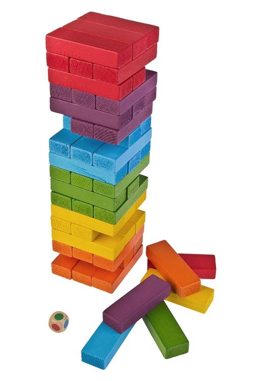 Игра настольная развлек. для взрослых Цветная ДженгаРазвлечения и вечеринки<br>дерево<br>
