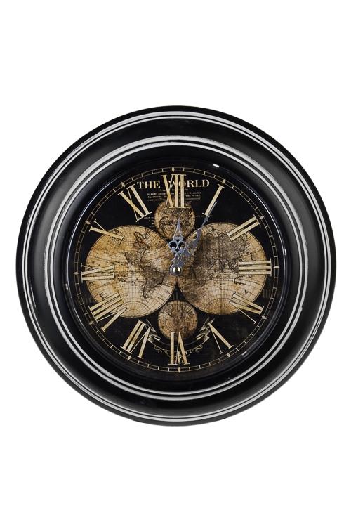 Часы настенные Карта мираЧасы Настенные<br>Д=32см, металл, пластм.<br>