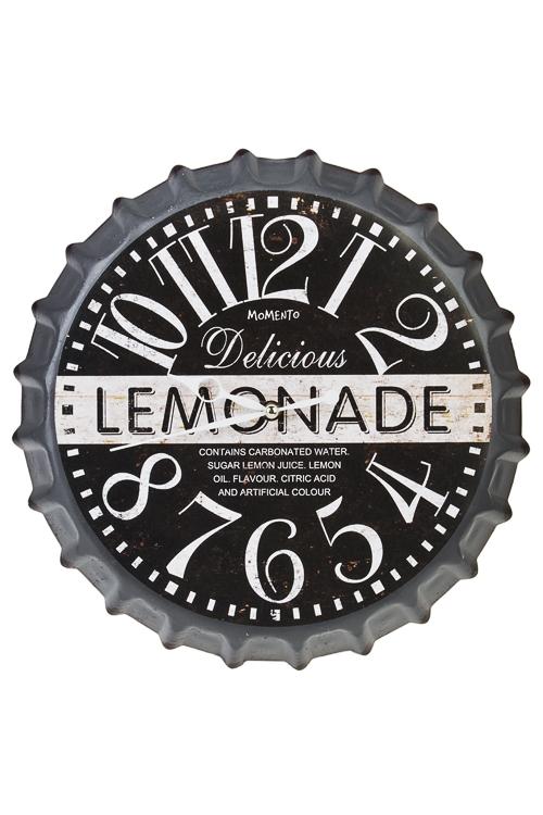 Часы настенные ЛимонадИнтерьер<br>Д=35см, металл<br>