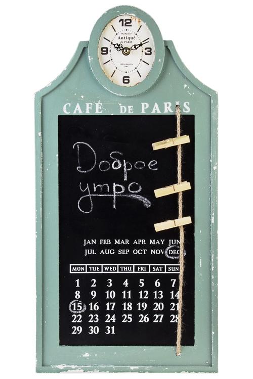 Часы настенные АнтикЧасы Настенные<br>30*60*4см, МДФ, с календарем, с мемо-доской<br>