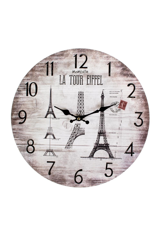 Часы настенные ПарижИнтерьер<br>Д=33.8см, МДФ<br>