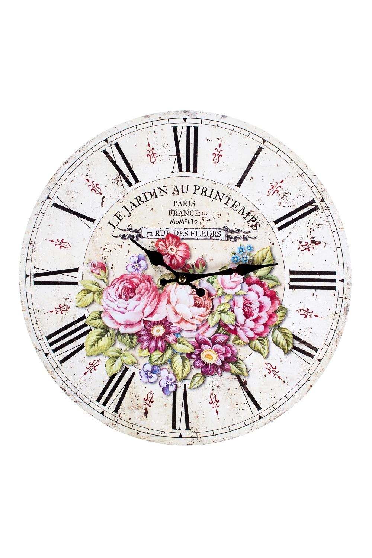 Часы настенные Прекрасный букетИнтерьер<br>Д=33.8см, МДФ<br>