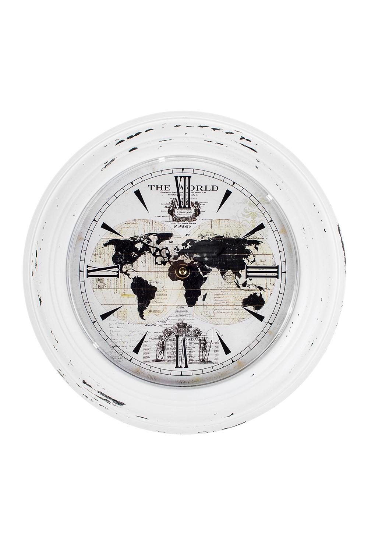 Часы настенные КонтинентыИнтерьер<br>Д=32см, металл, пластм.<br>