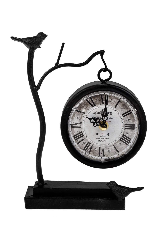 Часы настольные Пение птицИнтерьер<br>16*6*23см, металл<br>