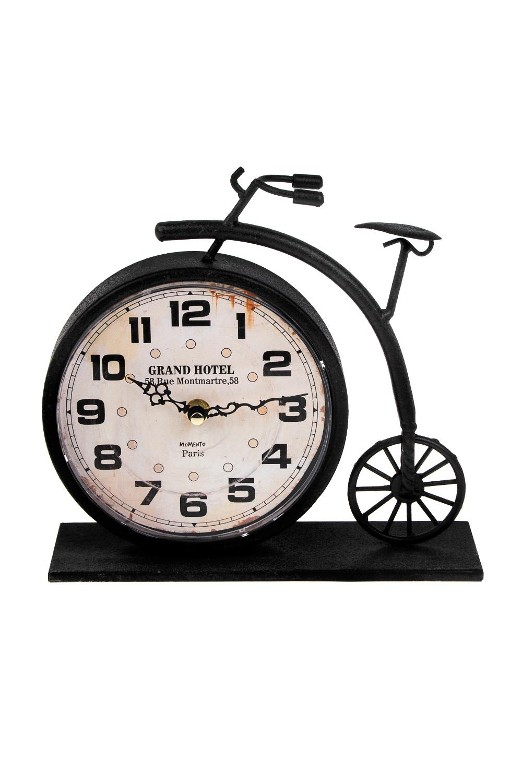 Часы настольные Старинный велосипедИнтерьер<br>23*7*22см, металл, пластм.<br>