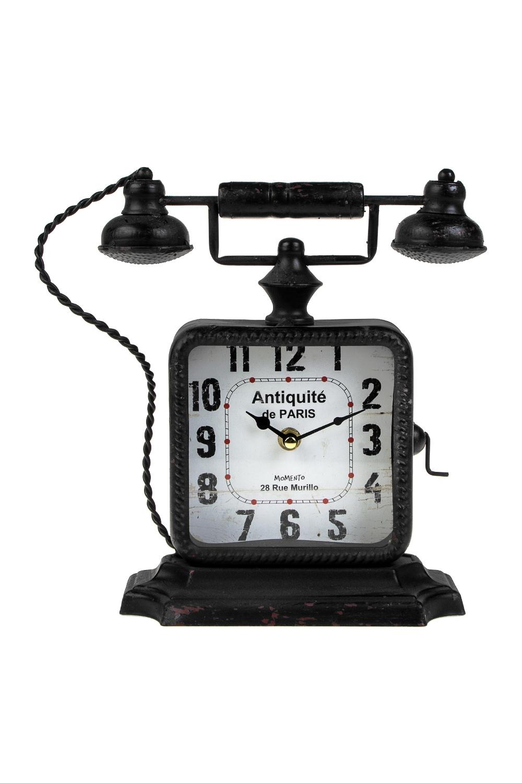 Часы настольные Старинный телефонИнтерьер<br>25*10*26см, металл<br>