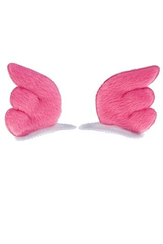 Набор заколок Крылья ангелаМаскарадные костюмы<br>Текстиль, металл, розовый<br>