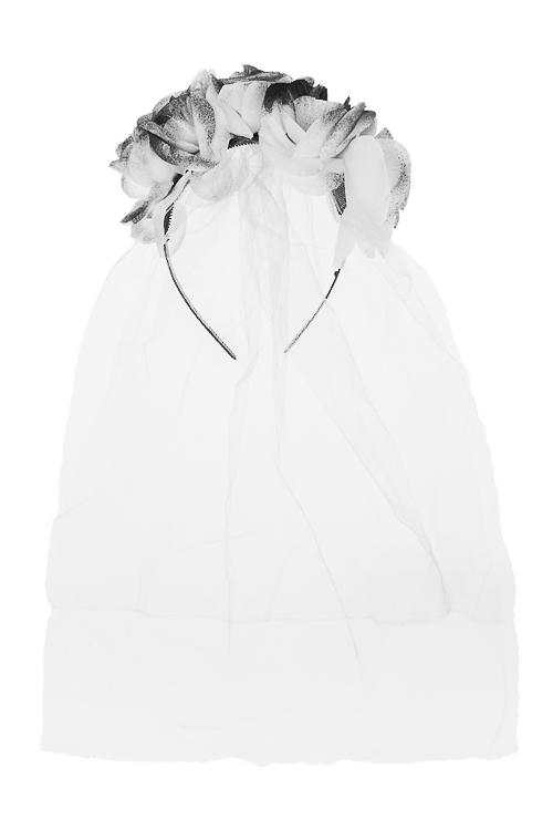 Обруч на голову маскарадный для взрослых Зловещая невестаМаскарадные костюмы<br>Текстиль, пластм.<br>