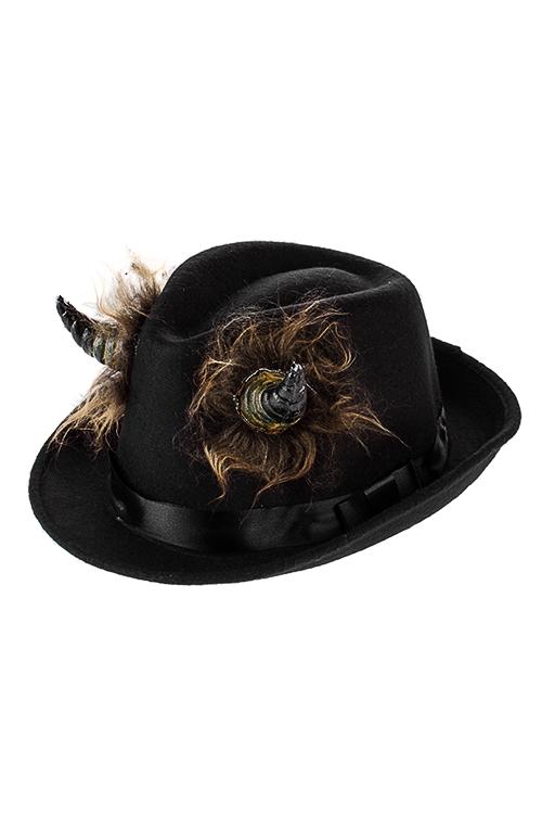 Шляпа маскарадная для взрослых Чертовы рогаПодарки на Хэллоуин<br>Текстиль, пластм., черная<br>