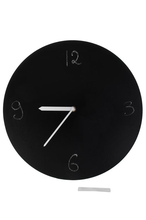 Часы-мемо настенные Школьная доскаИнтерьер<br>Д=35см, МДФ, с мелом<br>
